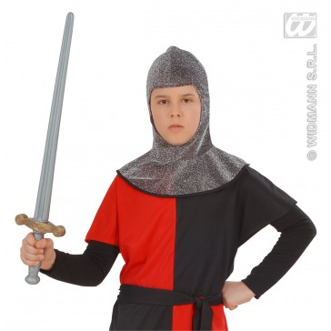 kap middeleeuwse strijder metalic, kind