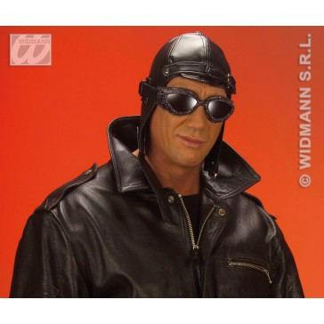 hoed aviator, lederlook