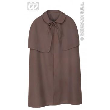 zware cape bruin met kraag, 100cm