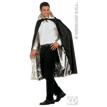 luxe zilver/zwarte 2-zijdige cape