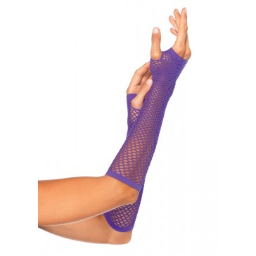 Triangle Net Fingerless Gloves