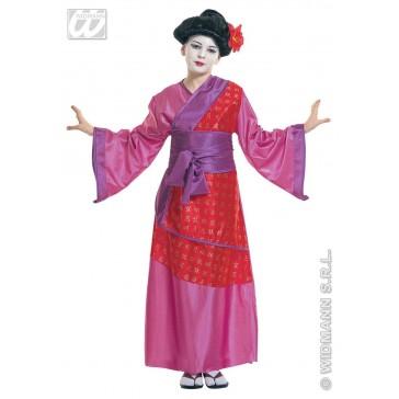 Kinder kimono paars