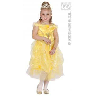 prinses geel 110 cm kind kostuum