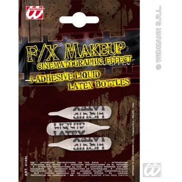 latex, 3 kleine flesjes