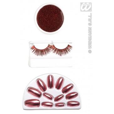 make-up set, rood