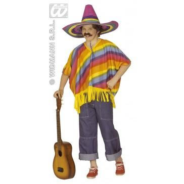 poncho meerkleurig voor kind