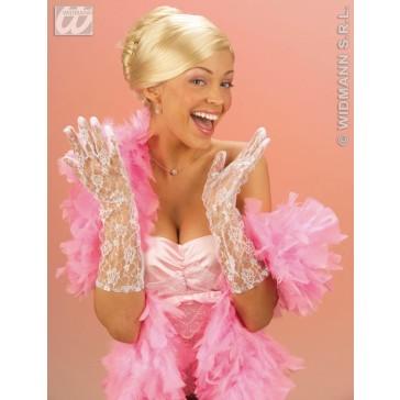 kanten handschoenen wit, 40 cm