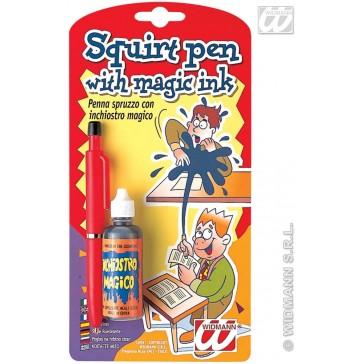 spuitende pen met magische inkt