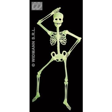 skelet decoratie, 90cm, lichtgevend in donker