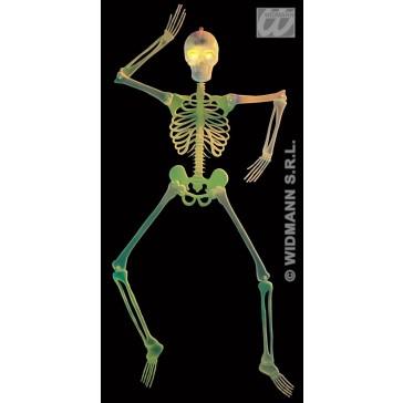 3d skelet decoratie met knipperende ogen