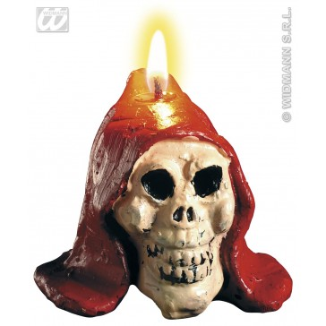 set van 2 kaarsen, bloedende schedel