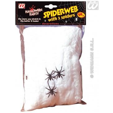 spinneweb 50gram met 3 spinnen