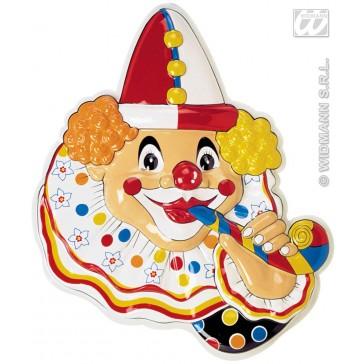 3d wanddecoratie clown met
