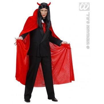 rode cape fluweel 145cm