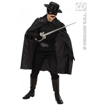 zwarte cape 100cm