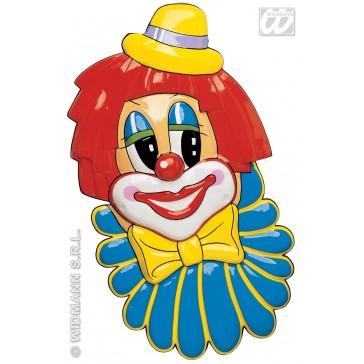 pvc 3d decoratie, clownsgezicht
