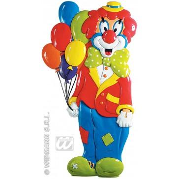 pvc 3d decoratie, clown met ballonnen