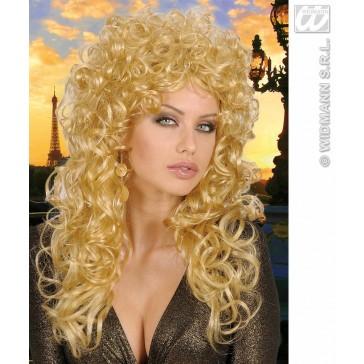 pruik, krulpruik beauty blond