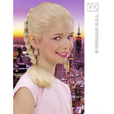 haar extensie kind, blond