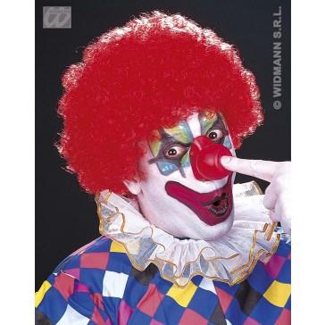 pruik, clown met krullen (in plastic zak)