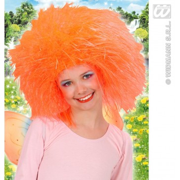 pruik, fee kind neon, oranje