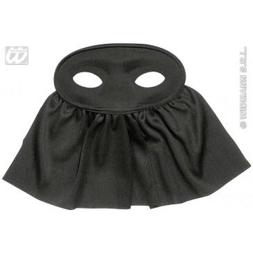 oogmasker zwart met sluier