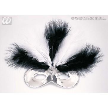 oogmasker montmartre met veren