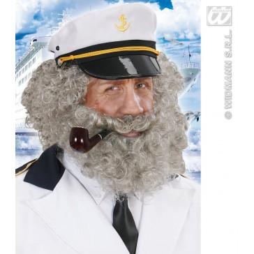 pruik, karakter met krullen en baard, grijs