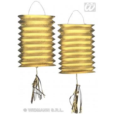 2 goud metalic lantaarn lampions, 25cm