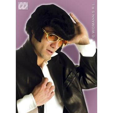bril, rock n'roll goud + bakkebaarden