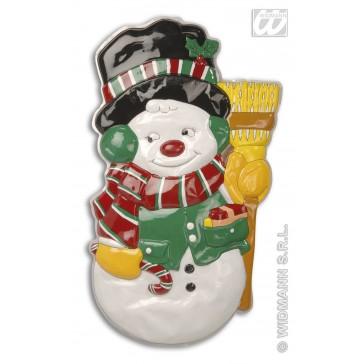wanddecoratie sneeuwpop