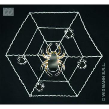 wanddecoratie spinneweb met spinnen