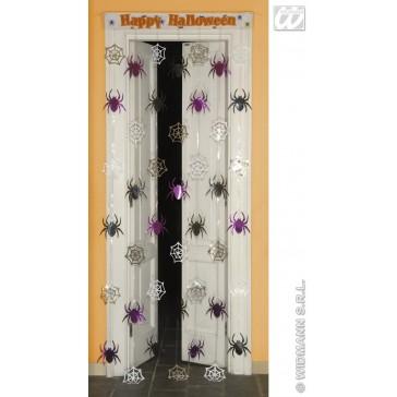 deurversiering spinneweb met spinnen