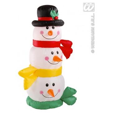 opblaasbar hoofd sneeuwpop 122cm, gebruik binnen
