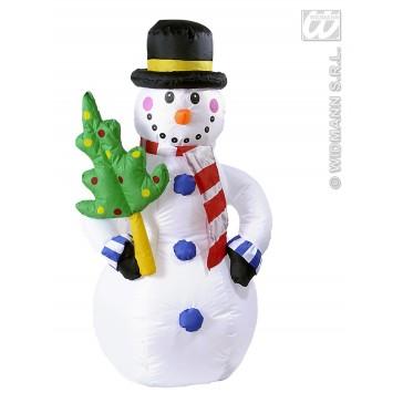 opblaasbare sneeuwpop 122cm, gebruik binnen