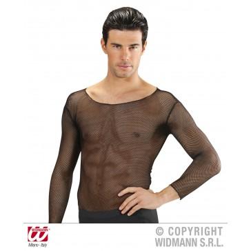 zwart visnet shirt