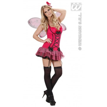 Sexy rose vlinder