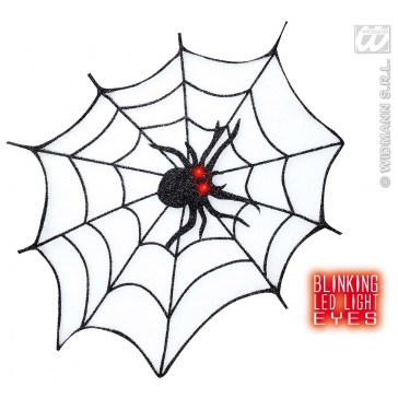 spinneweb glitter met led licht