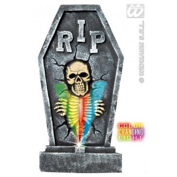 grafsteen skelet met licht