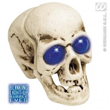 schedel bolle ogen met licht