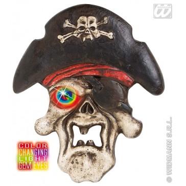 piratenschedel met meerkleurig licht