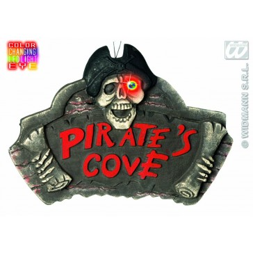 gevelplaat piratenbaai met licht