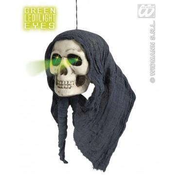 schedel met kap en ledlicht