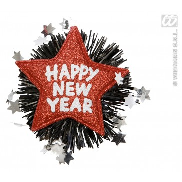 "broche ""happy new year"" rood"