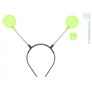 hoofdband met antenne, lichtgevend in donker