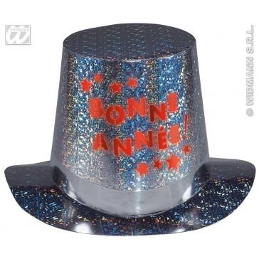 hoge hoed met flitslicht bonne annee