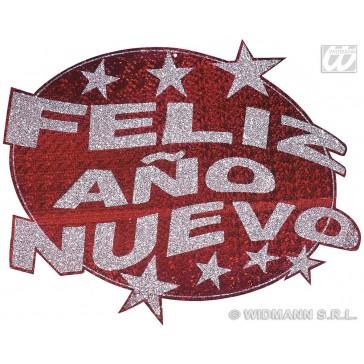 feliz ano nuevo laserdecoratie rood