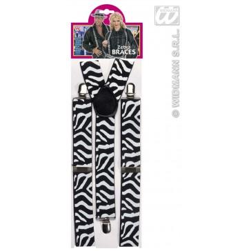 riem zebra zwart/wit