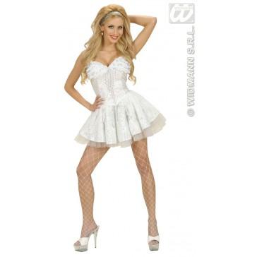 kanten rokje met petticoat, wit