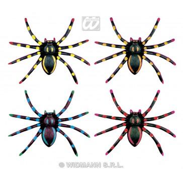 4 neon spinnen, 7cm
